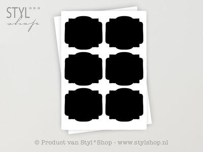 12 Krijtbord Schoolbord Sticker Etiket Label - 2