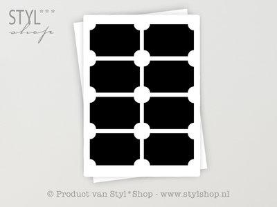 16 Krijtbord Schoolbord Sticker Etiket Label - 3