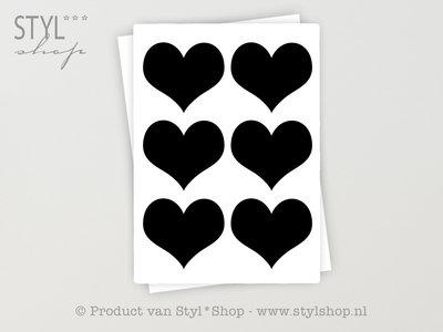 12 Krijtbord Schoolbord Sticker Hart Etiket Label - 8