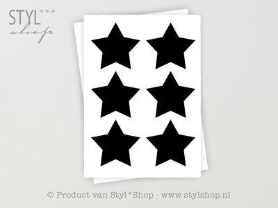 12 Krijtbord Schoolbord Sticker Ster Etiket Label - 10