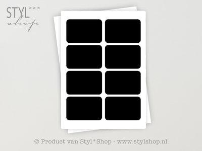 16 Krijtbord Schoolbord Sticker Etiket Label - 13