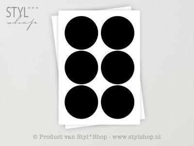 12 Krijtbord Schoolbord Rondje Sticker Etiket Label - 14