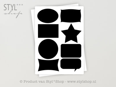 16 Krijtbord Schoolbord Divers Sticker Etiket Label - 2