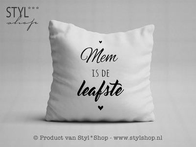 Kussen met tekst -Frysk- Mem is de leafste
