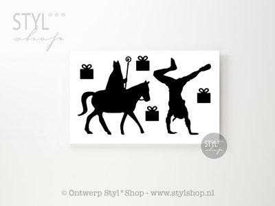 18 (muur) stickers Sinterklaas