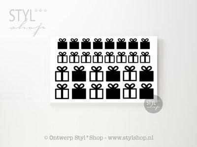 84 (muur) stickers Kadootjes