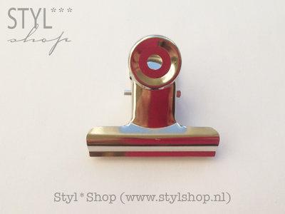 Memoklem / papierklem clip 5 cm Zwart