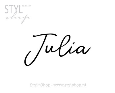 Sticker - naamsticker Julia