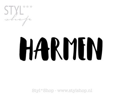 Sticker - naamsticker Harmen
