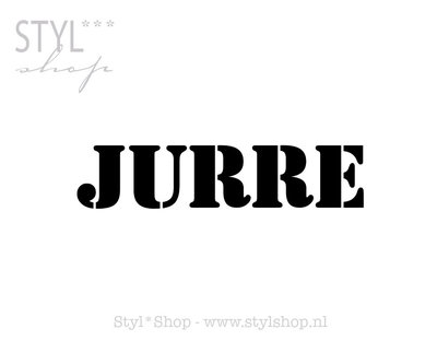 Sticker - naamsticker Jurre