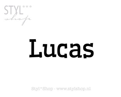 Sticker - naamsticker Lucas