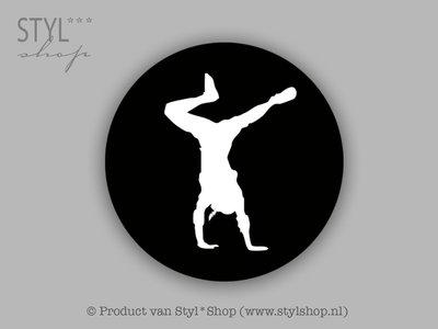 15 zwarte piet Stickers zwart