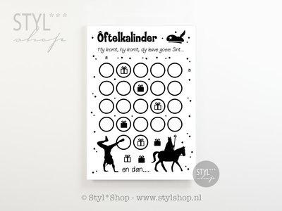 Gratis aftelkalender Sinterklaas Frysk