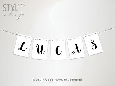 Kaarten slinger letters & cijfers - Serie 1