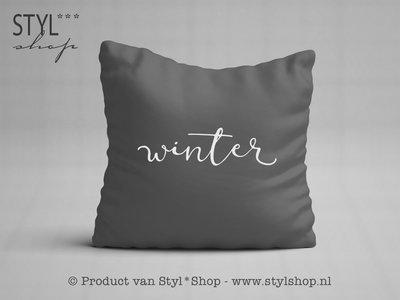 OUTLET - Kussen met tekst - Winter