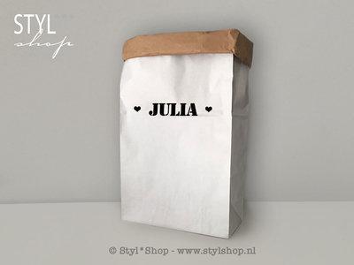 OUTLET - Paperbag met naam XL