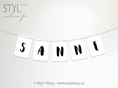 Kaarten slinger letters & cijfers - Serie 2