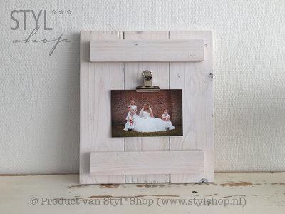 Rustiek houten klembord wit
