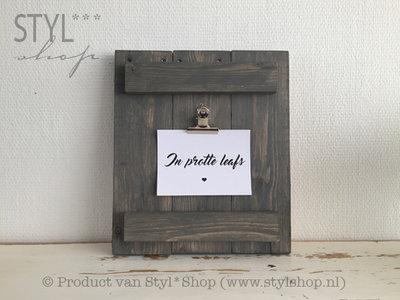 Rustiek houten klembord grijs