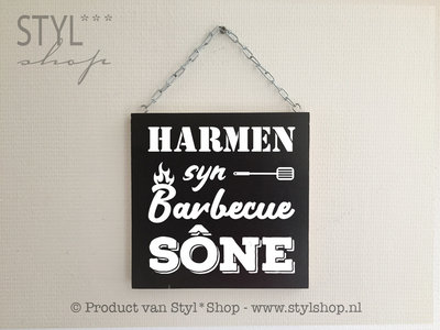 Tekstbord ... syn barbecue sône
