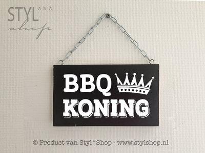Tekstbord BBQ Koning
