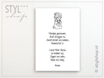 christelijke poster kinderkamer handjes gevouwen