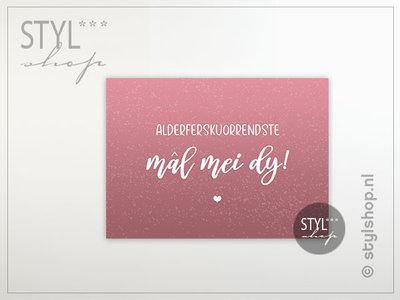 fryske kaart friese kaart mal mei dy trouwen postkaart ansichtkaart decoratie versturen kaartje getrouwd leafde valentijn