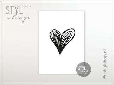 kaart ansichtkaart hart valentijn hartje