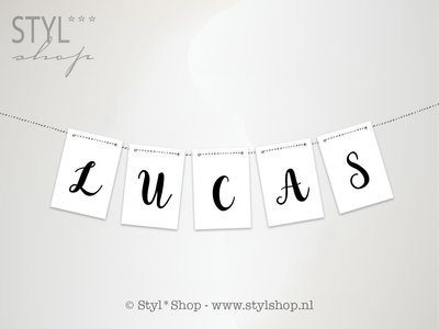slinger letters kaarten zwart wit