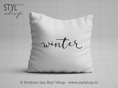 Kussen met tekst winter styl shop friese producten jouw