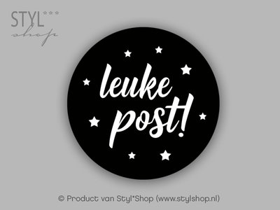 sticker zwart wit leuke post