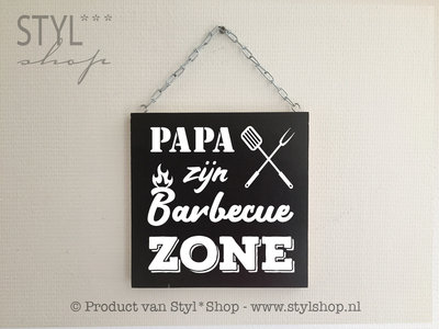 Papa zijn barbecue zone vaderdag