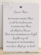 Tekstbord Frysk Fries