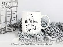 Mok Frysk tekst zwart wit